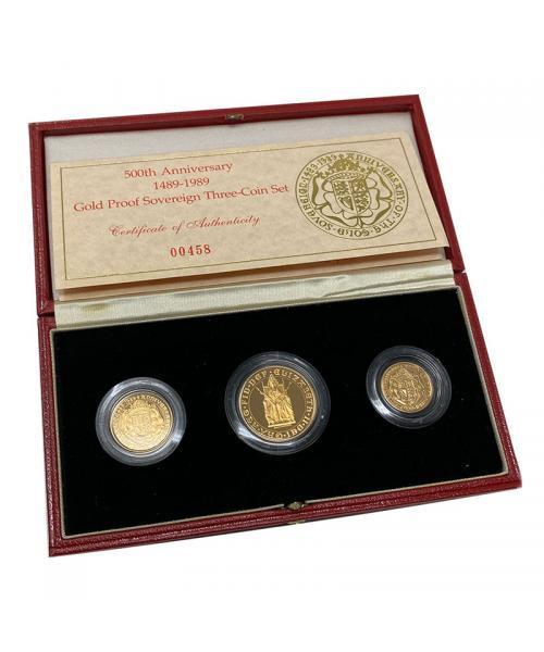 1989 Tudor Rose Gold Proof Sovereign
