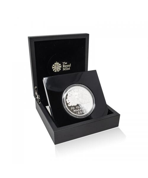 2017 Platinum Wedding Silver Proof 5oz £10