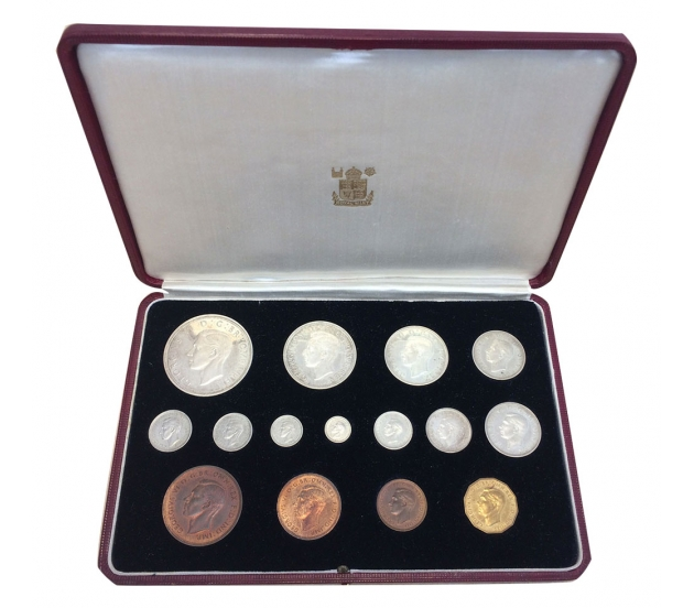 1937 George VI 15-Coin Specimen Proof Set
