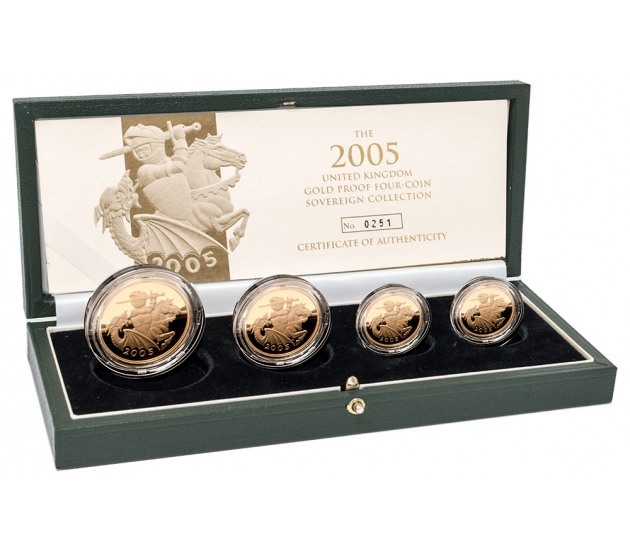 2005 Queen Elizabeth II Gold Proof Four Coin Collection