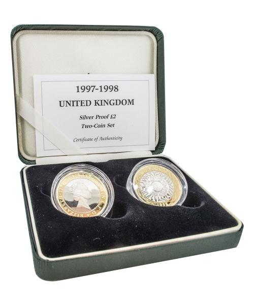 1997 - 1998 Silver Proof Two-Coin Set