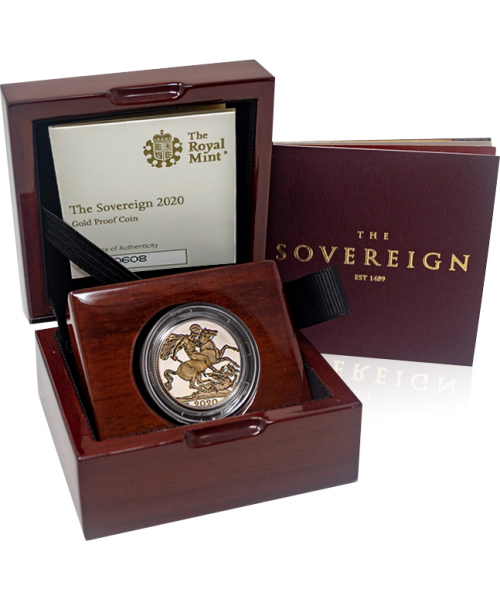2020 Gold Proof Sovereign Image