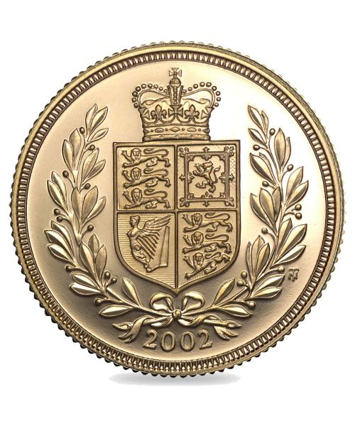 2002 Gold Sovereign Image