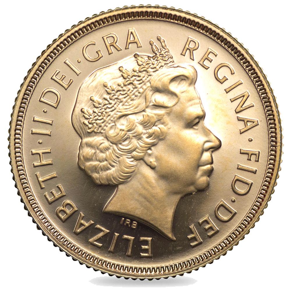 2002 Queen Elizabeth Ii Gold Bullion Uncirculated Sovereign