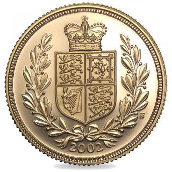 2002 Queen Elizabeth II Gold Sovereign
