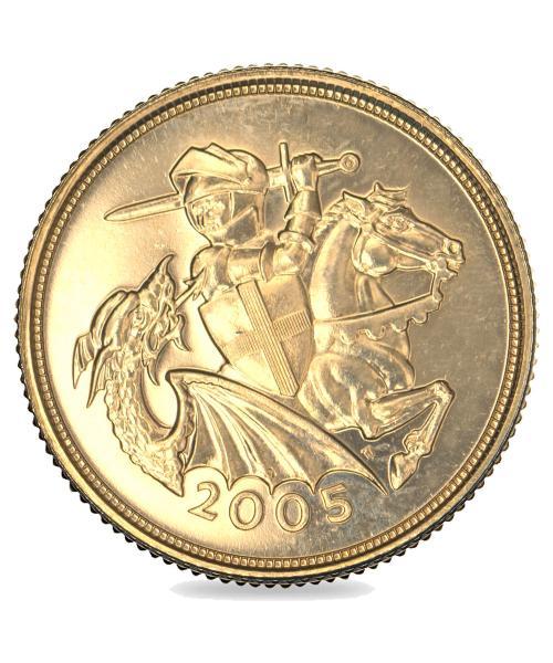 2005 Queen Elizabeth II Gold Art-Deco Sovereign