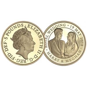 2018 Royal Wedding Gold Five Pound